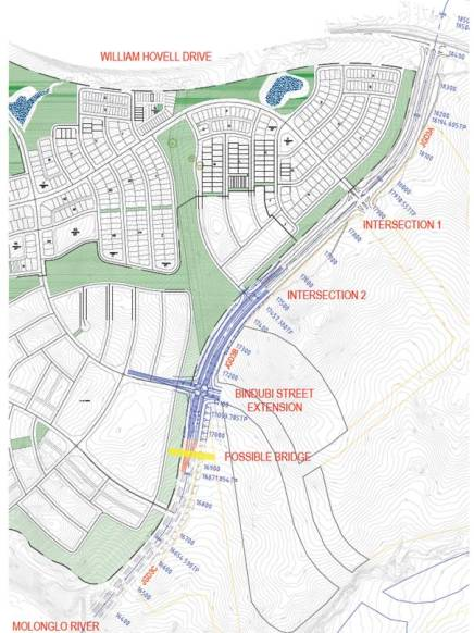 ACT Planning map showing John Gorton Drive light rail in the suburb of Whitlam