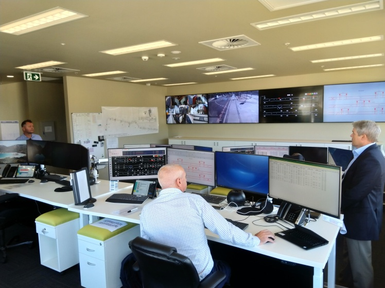 Canberra Metro operations control centre at the Mitchell Depot